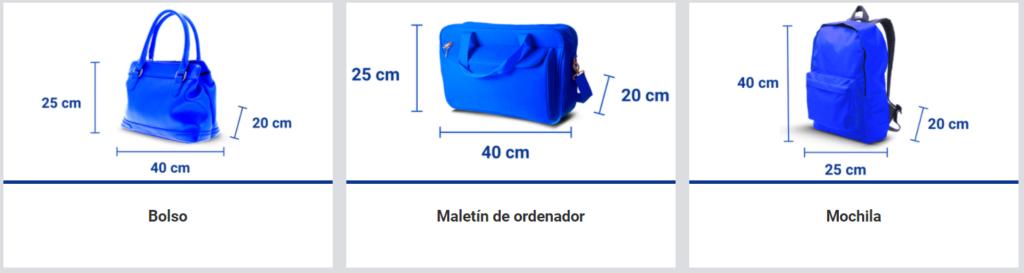 Medidas permitidas de bolsos de mano en Ryanair