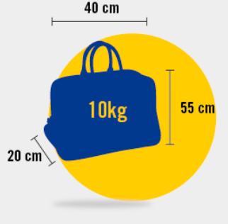 Medidas permitidas equipaje de mano vueling