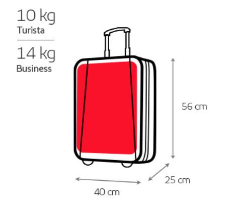 Medidas equipaje de mano iberia